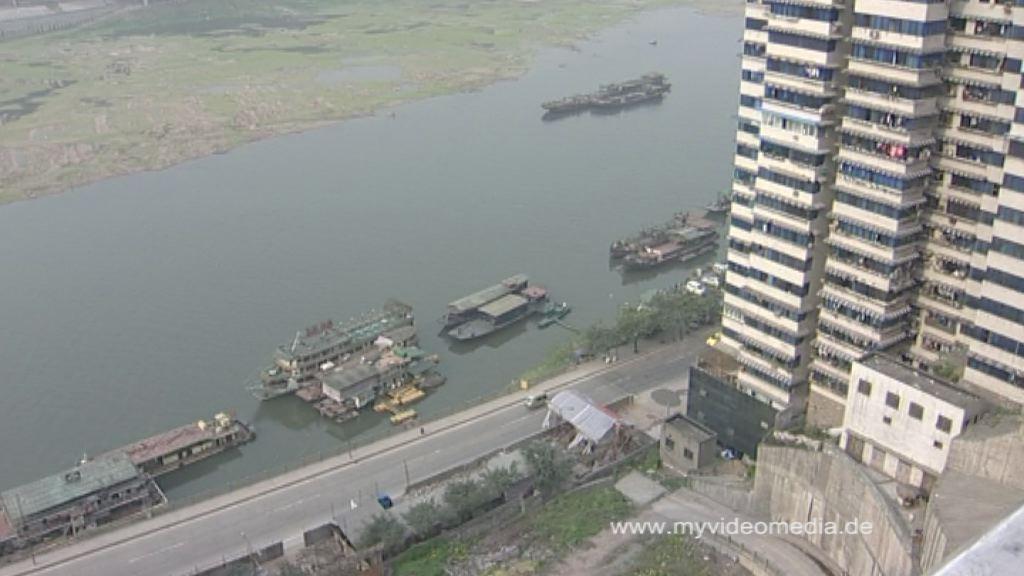 Fluss in Chongqing