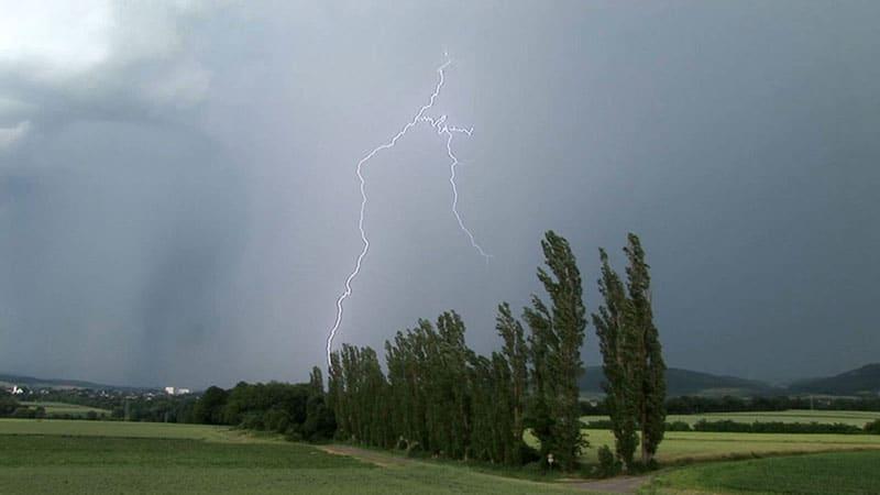 Blitze über Altrich