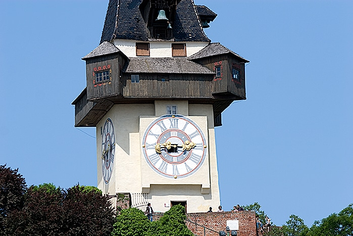 Clock Tower the symbol of Graz in Austria