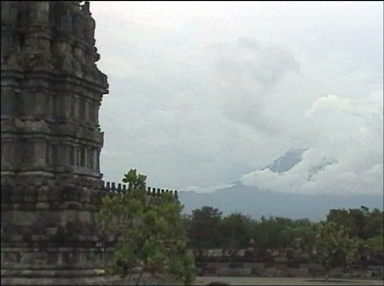 Merapi seen from Prambanan