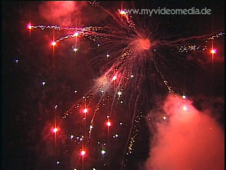 Firework in St. Johann in Tyrol