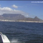 Cape Town seen from boat to Robben Island
