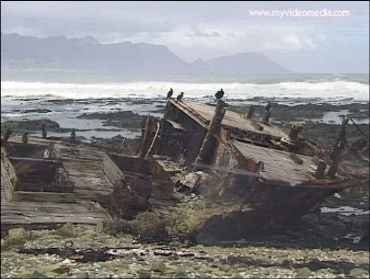 wreck Robben Island South Africa