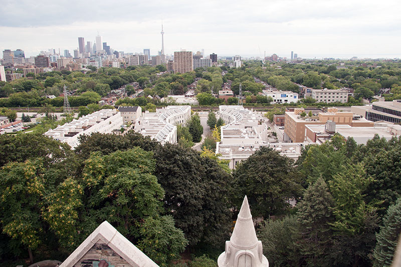 View above Toront from Tower of Casa Loma