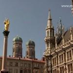 Das Zentrum von München Marienplatz