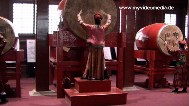 Drummers in drum tower Beijing