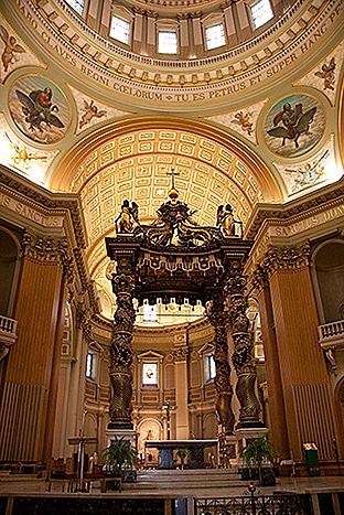 Inside Cathedral Montreal - Marie-Reine-du-Monde