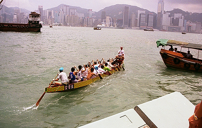 Training for the annual Dragon Boat races
