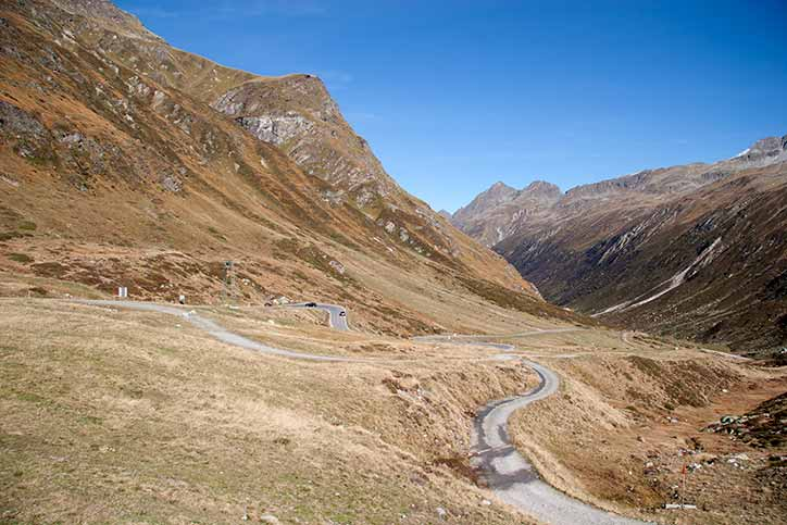 Silvretta high Alpine road