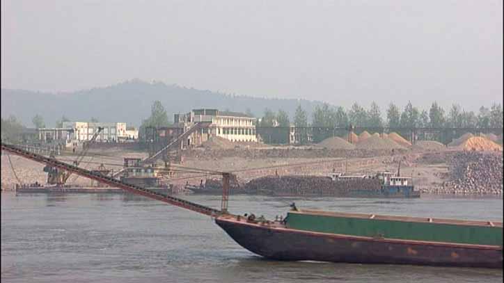 Jangtse Richtung Gezhouba Damm