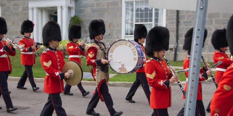 Changing of the Guard in the Citadelle of Quebec