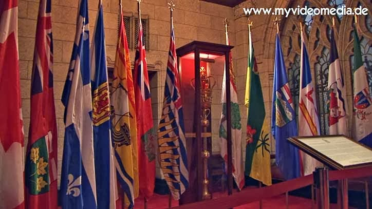 flags of the provinces and ceremonial baton