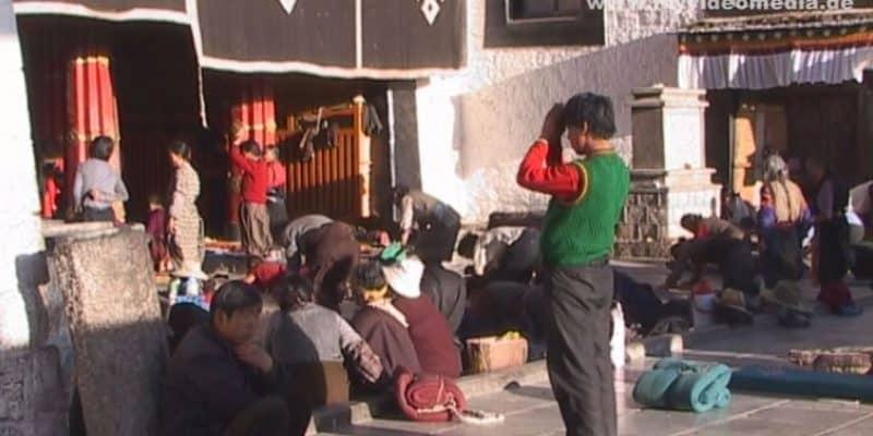 In den Strassen von Lhasa