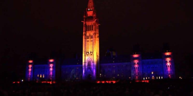 Mosaika Sound and Light Show on Parliament Hill