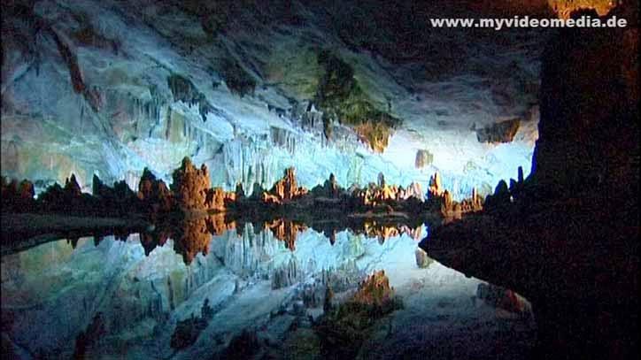 Lake inside Reed Flute Cave