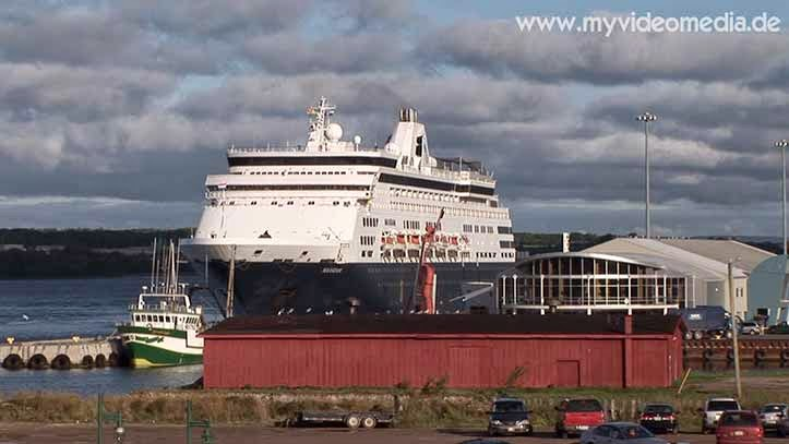 Cruise liner in the port of Sydney - Nova Scotia