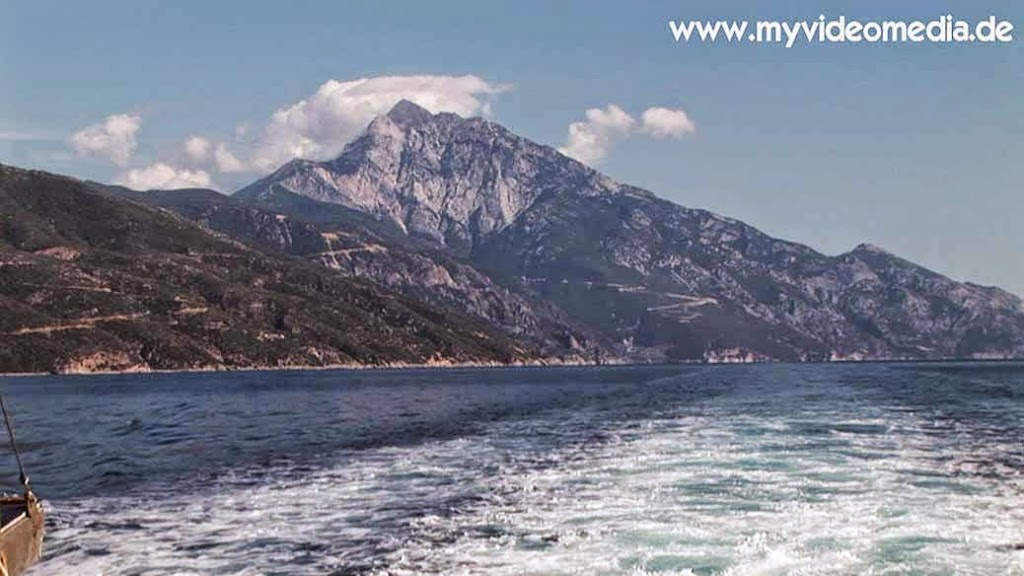 Mount Athos from the sea