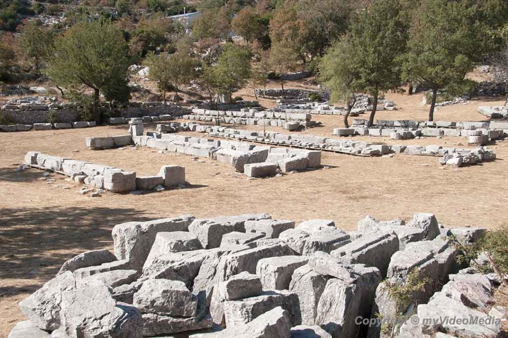 Ruins of settlement in Bassae