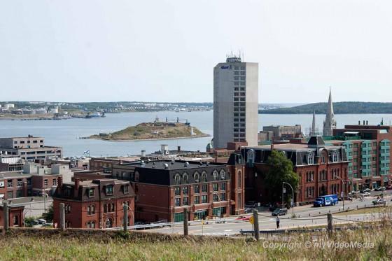 Blick von der Zitadelle auf Halifax
