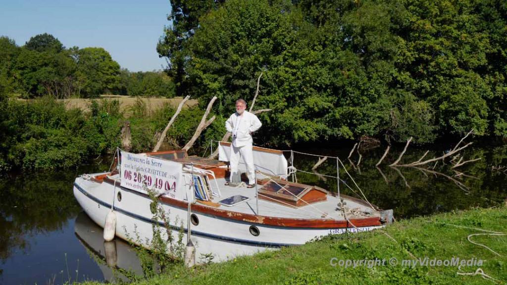 François Lelievre auf dem Boot