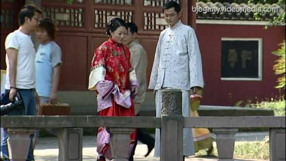 Wangjiang Tower Park Hochzeitsfotos