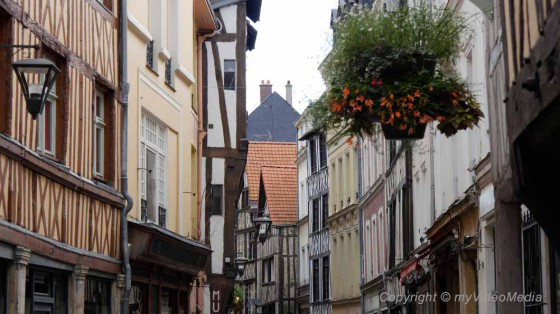 half-timbered houses Rouen