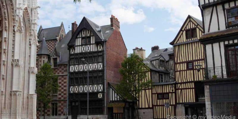 Historic old town of Rouen