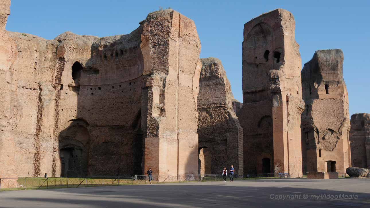 the baths of caracalla in rome. Black Bedroom Furniture Sets. Home Design Ideas