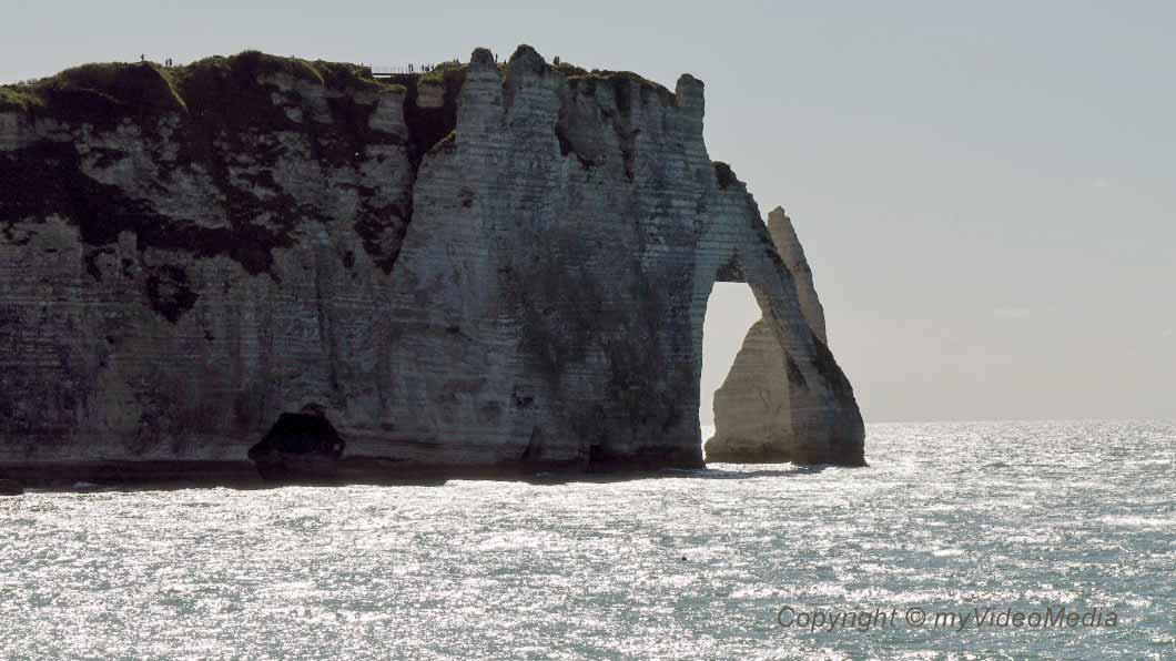 Etretat famous cliffs