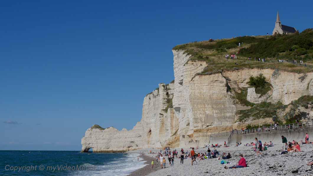 chalk cliffs in Etretat