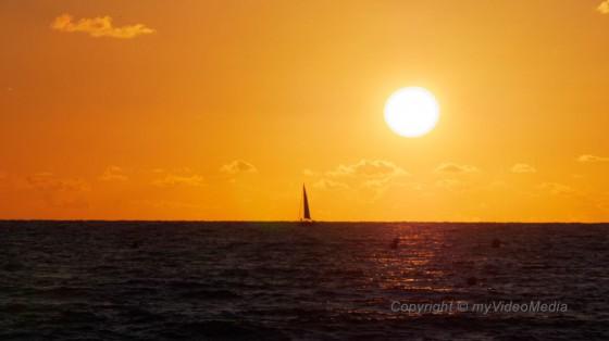 Sonnenuntergang in Le Havre
