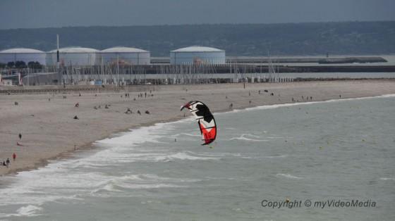 Kitesurfer in Le Havre