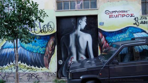 Streetart vom Kuenstler WD