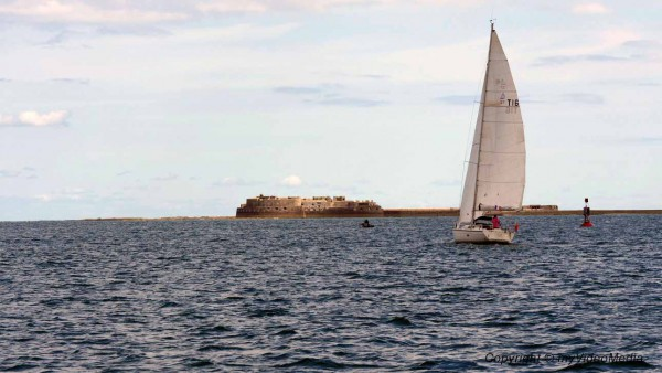 Sailing Cherbourg Harbor