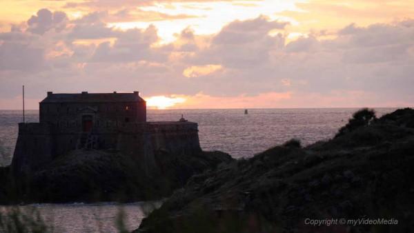 Sunset in Saint Malo