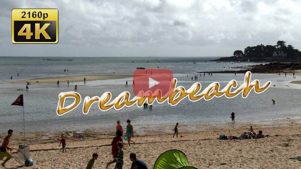 Video footage Carnac beach Brittany