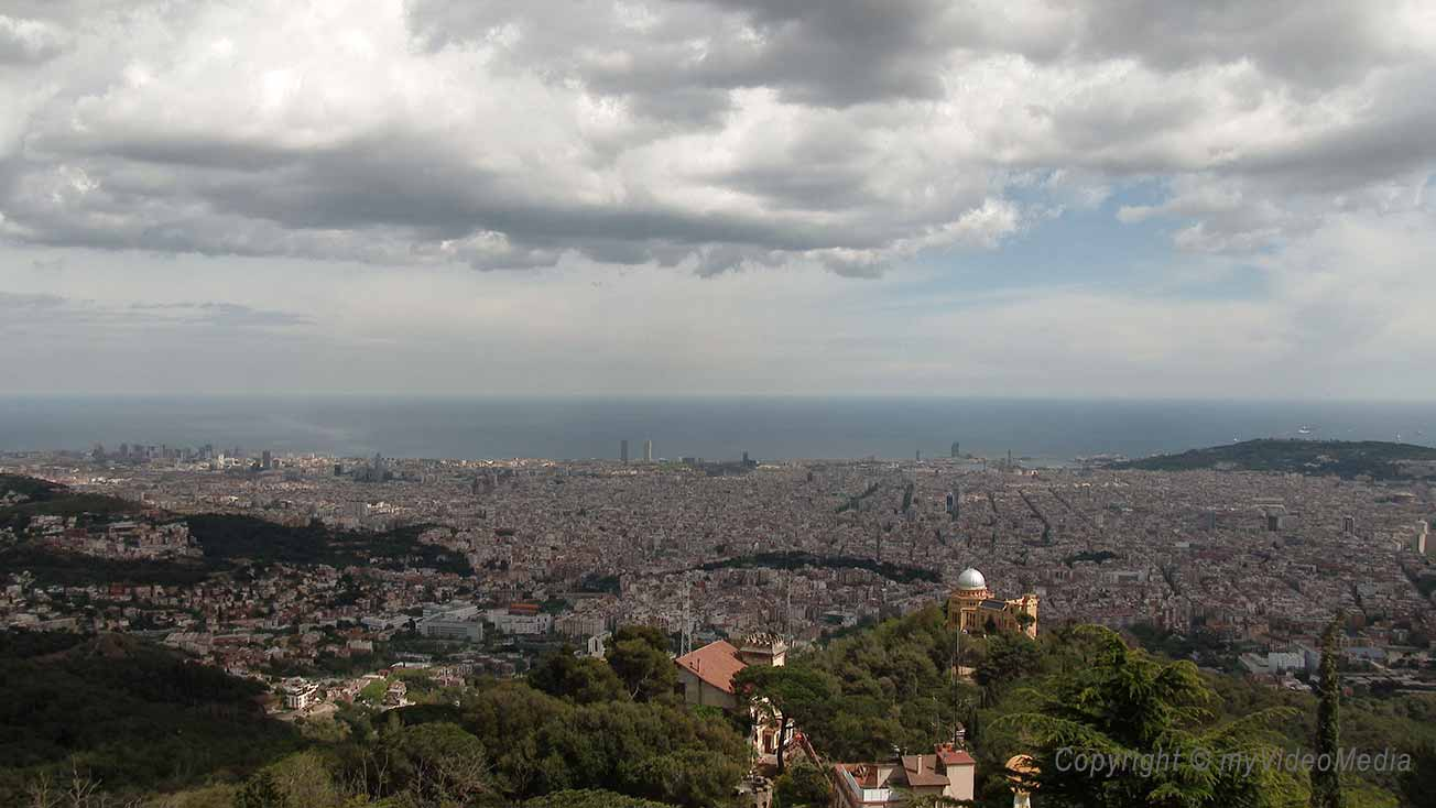 Barcelona seen from Tibidabo