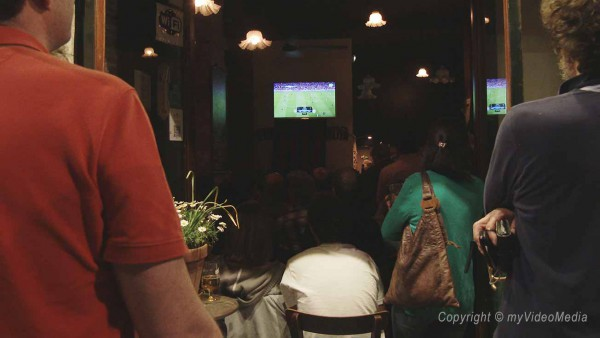 Watching football in Girona
