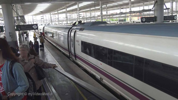 High speed train Madrid