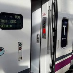 With AVE – Renfe high speed train from Madrid to Seville
