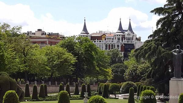 view from Buen Retiro Park