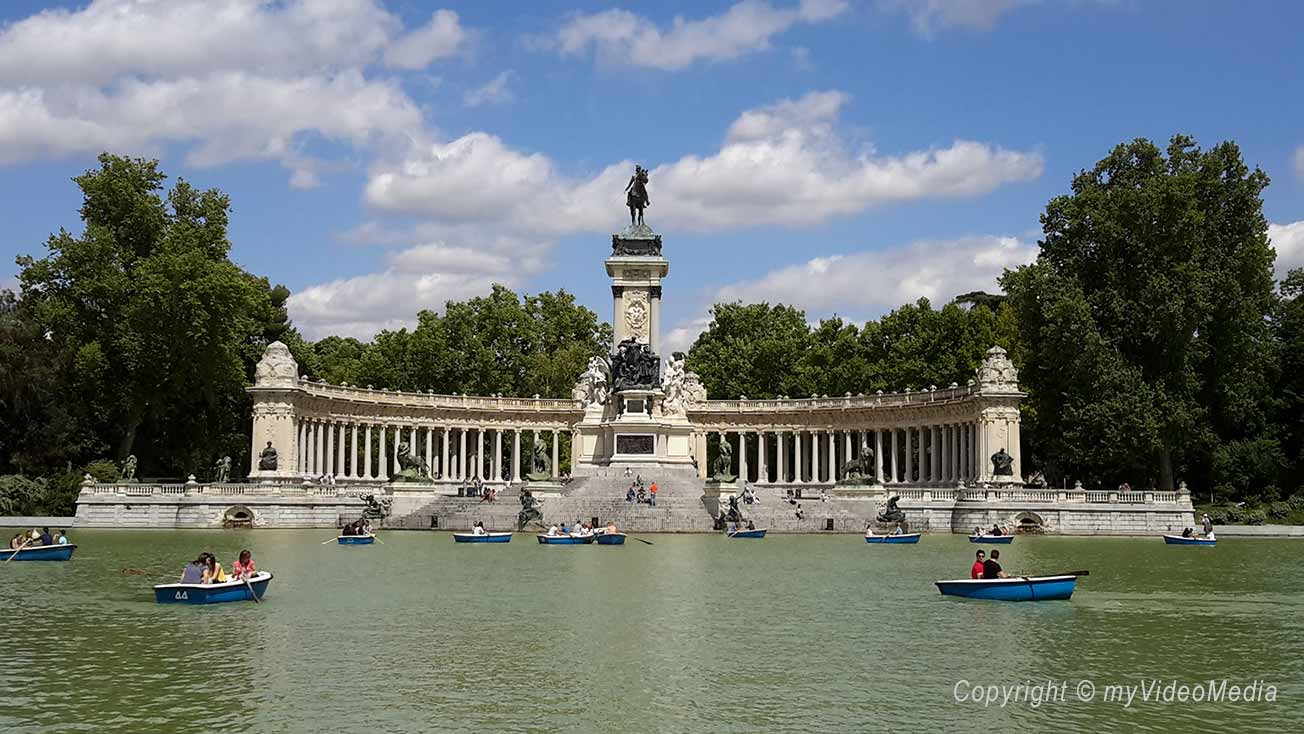 Parque del retiro madrid travel video blog for Parque del retiro madrid