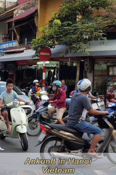 Ankunft in Hanoi