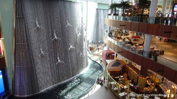 Dubai Mall Water cascade