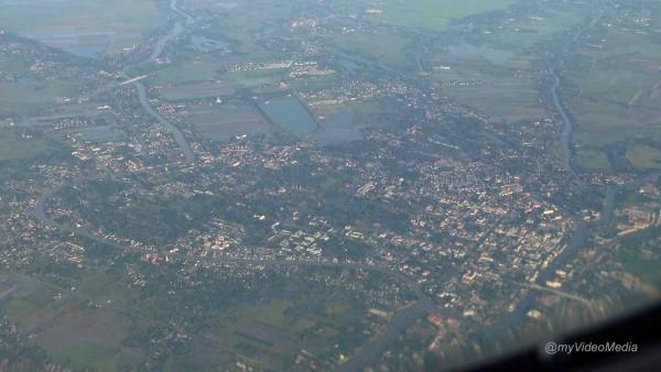 Flug über Ayutthaya