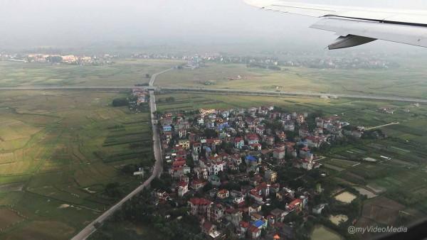 Anflug Hanoi