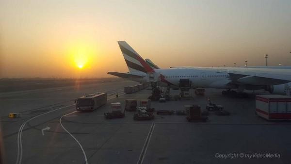 Arrival at Dubai Airport