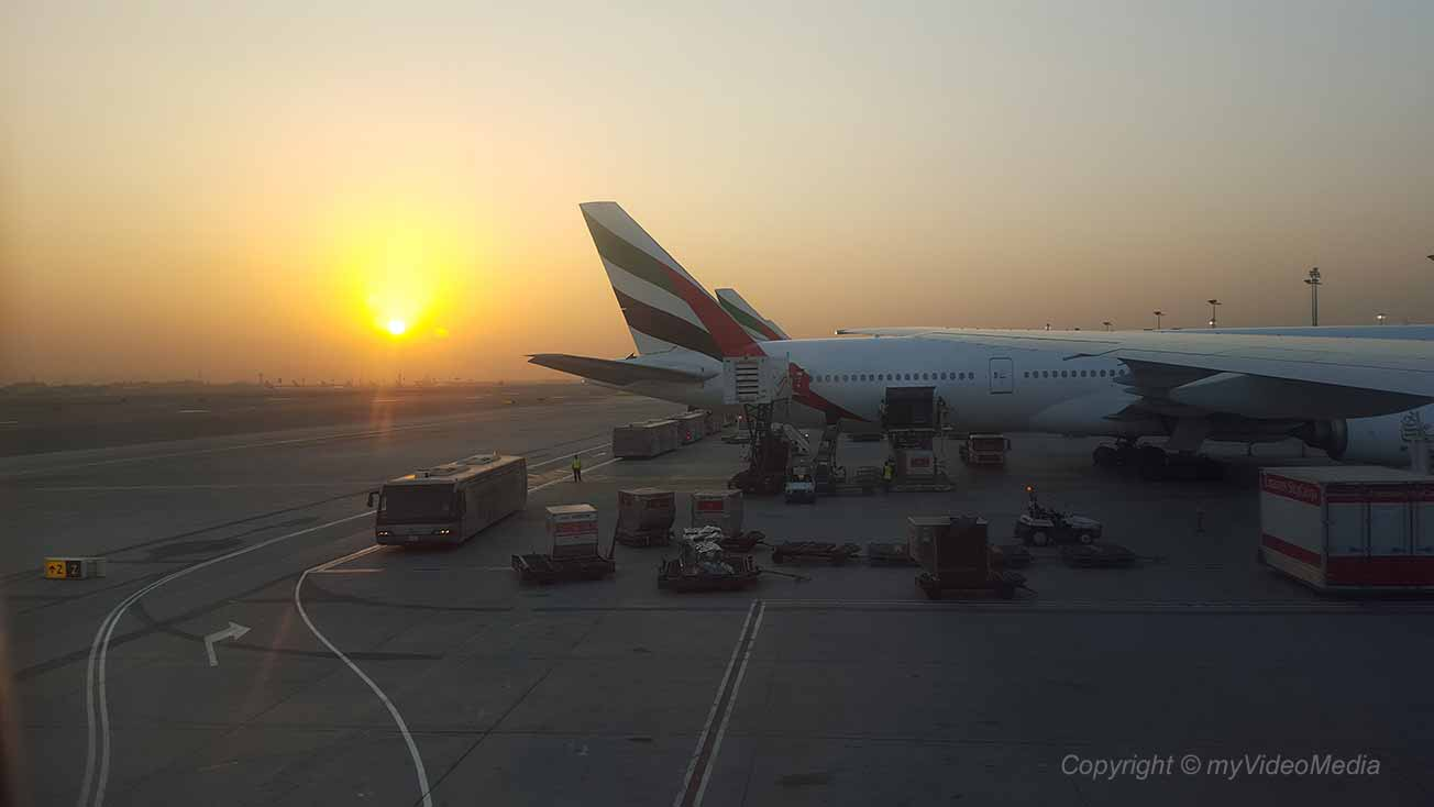 Arrival at Dubai Airport