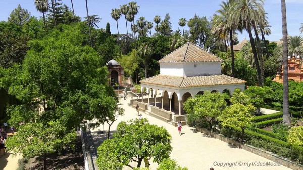 Alcazar of seville travel video blog - Garden center sevilla ...