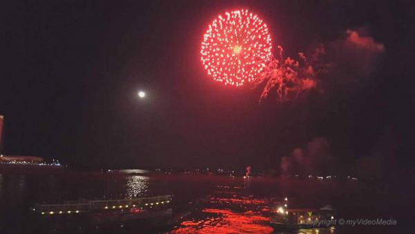 Feuerwerk Wasserfestival Phnom Penh